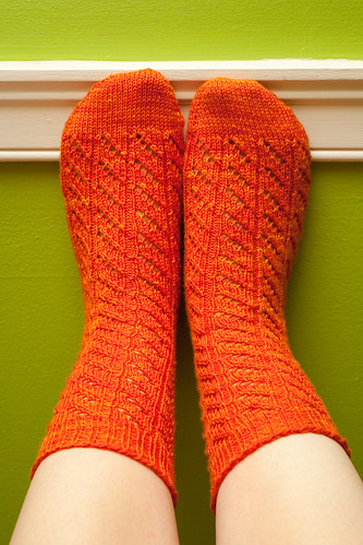 Diagonal Lace Socks (Front)