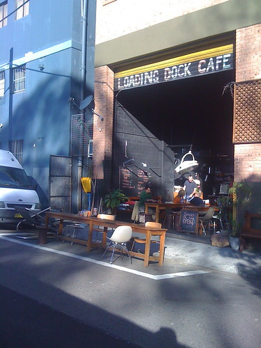 loading dock cafe
