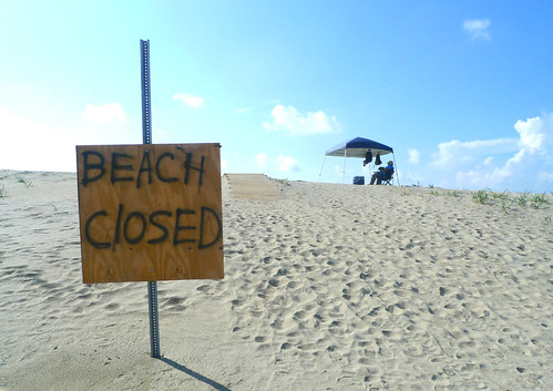 Another Beach Closed - BP Deepwater Horizon Oil Spill