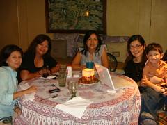 Gret, Estee, Monica, moi & Jake