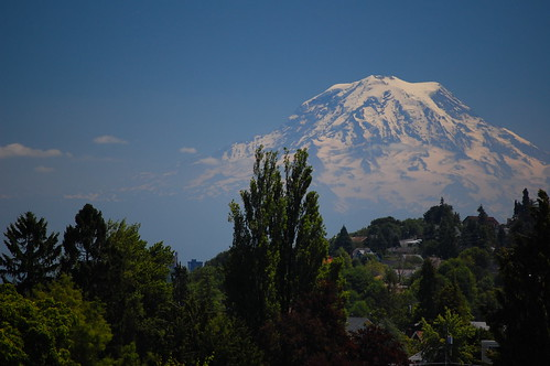 Mt Rainier was out in all its glory