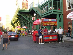 Yum Food vender outside Fenway Park