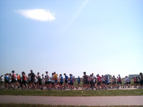 Marathonlöpare på Gärdet