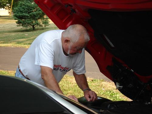 Dad Looking Under The Hood