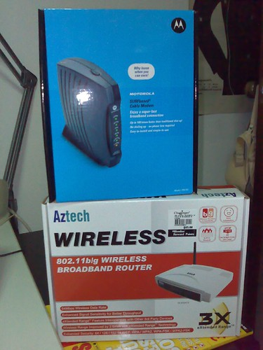Motorola Cable Modem & Aztech Wireless Router