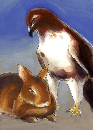 Hawk and Rabbit.