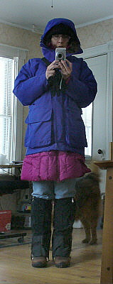 Dressed for success...during a snowstorm