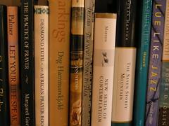 spirituality shelf