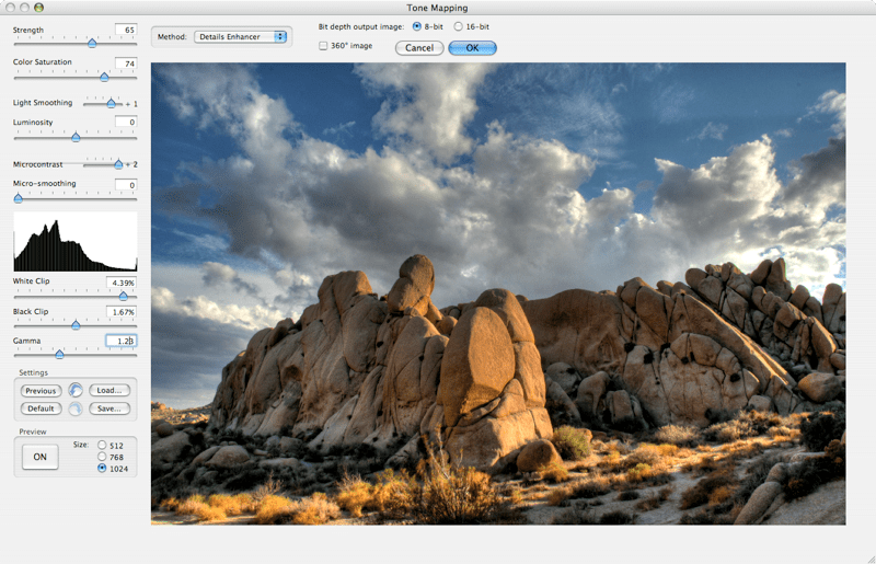 Tone Mapping Controls