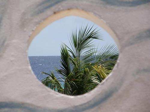 El Caribe desde un agujero por copepodo.