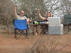 Sundowners on the banks of the Crocodile river