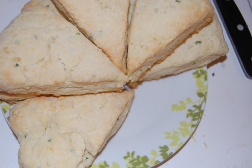chives, cheddar biscuits