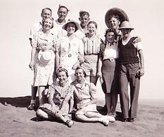 Grandma and Grandpa far left 1930s