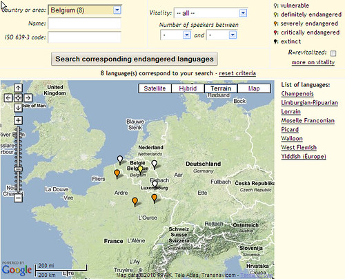 Endangered languages in Belgium
