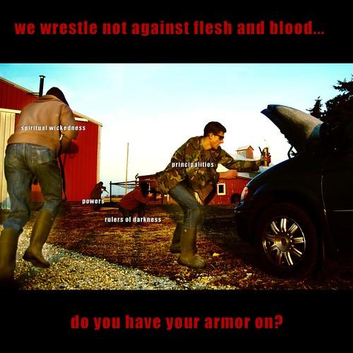 We Wrestle Not...