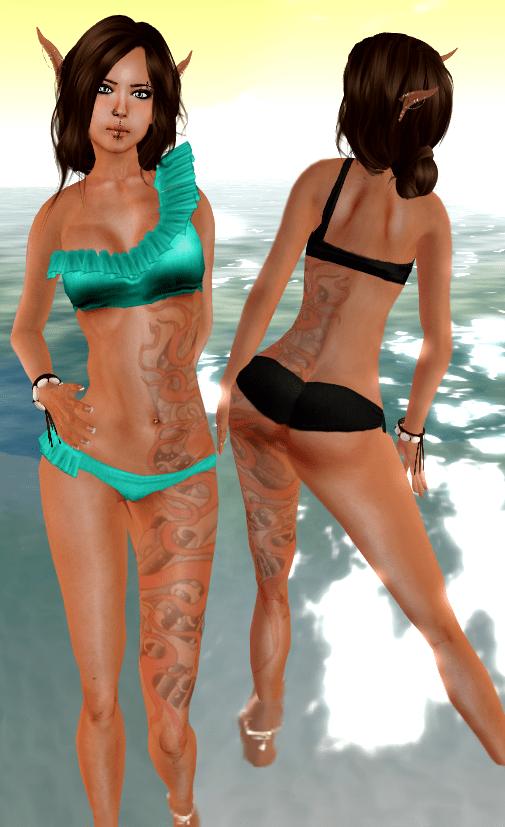 ::HH:: Hucci Rufflekini V2 - Aqua & Black
