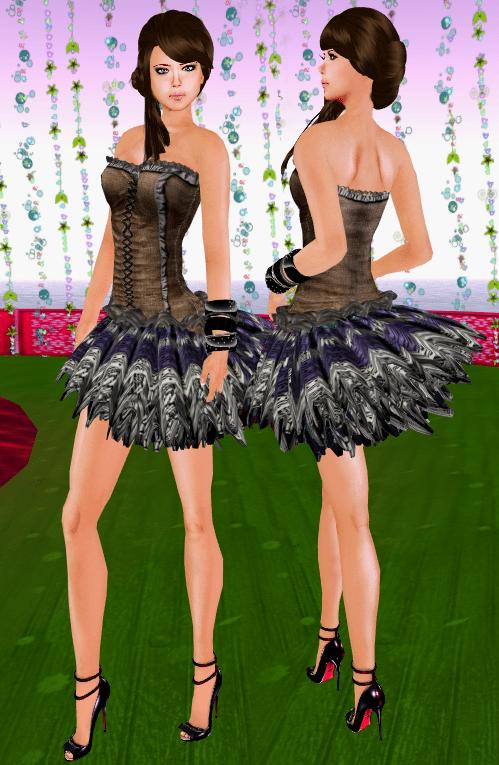 NEW! SHIKI-Corset Dress TIMES SQUARE TRIBAL
