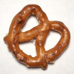 A traditional twisted pretzel