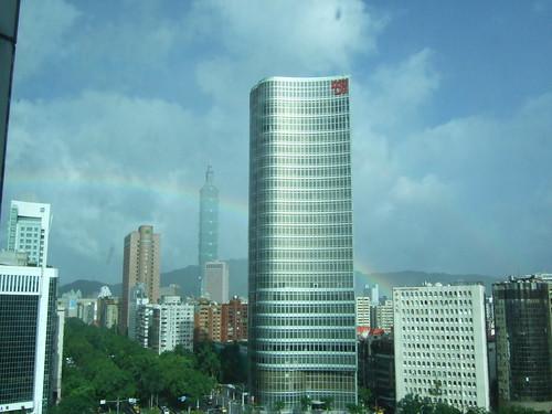 rainbow and Taipei101