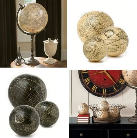 Globes as Decor