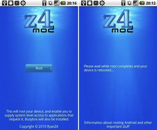 z4root consigue acceso root en tu  Android facil