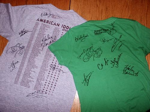 Signed shirts