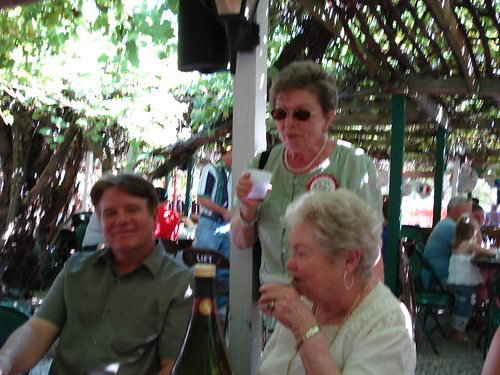 Chatting at the Wine Garden