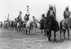 Procession of men of the Blackfoot Confederacy...