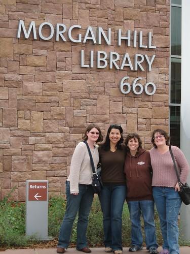 Visiting the Morgan HIll Library