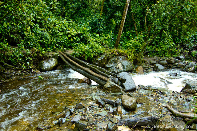 Foot bridge on the trail through Cocora Valley.