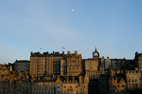 Moon over Edinburgh