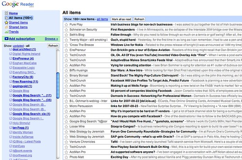 Google Reader on Mac