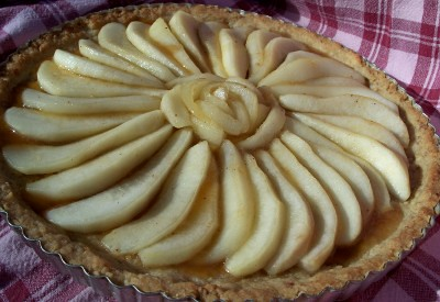 carmelized pear tart