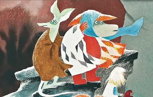 Detail of front cover 'The Dangerous Journey' by Tove Jansson