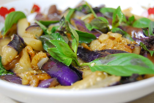 Aubergines with Basil