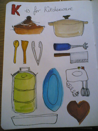 K is for kitchenware