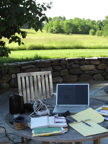 The view (without the mountains) from my summer office