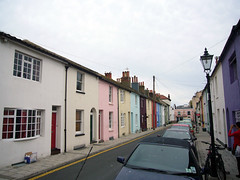 Colorful houses in Brighton