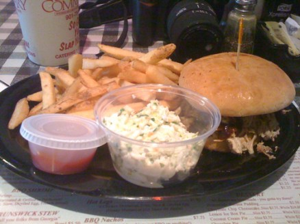 Pork sandwich plate from Germantown Commissary