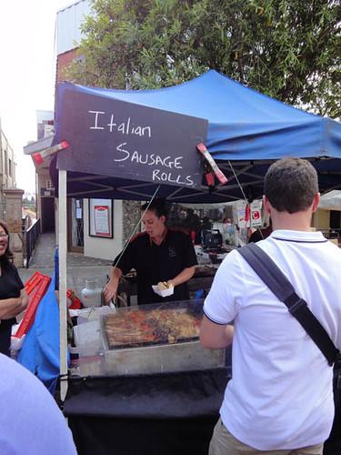 Norton Street Italian Festa: Italian sausage rolls