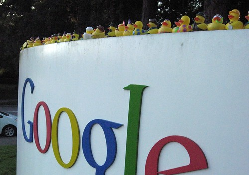 The duckies invade Google