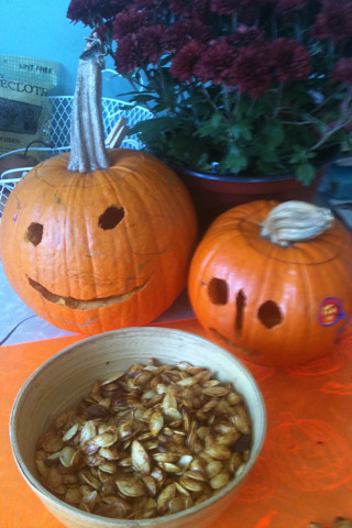 pumpkins and seeds