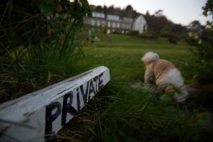 Sssh! my dog was nowhere near your private property!