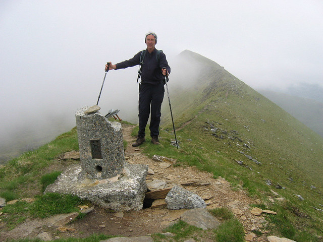 Trig point on Ladhar Bheinn