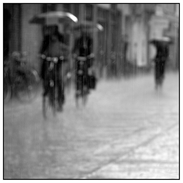 Cycling through the rain