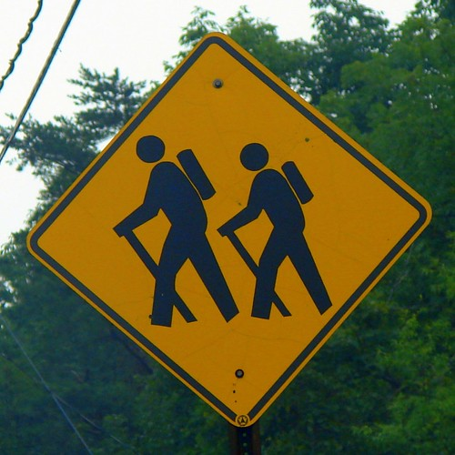 Hikers Crossing