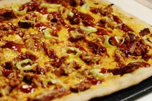 """homemade """"the rustler"""" pizza"""
