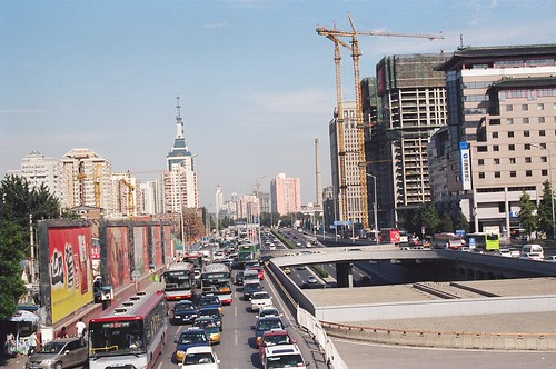Beijing = cars, construction, capitalism.