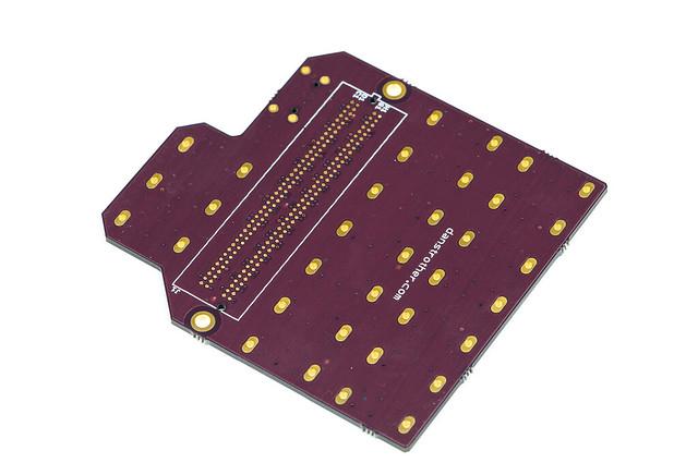 FMC-LPC to SATA adapter board - bottom