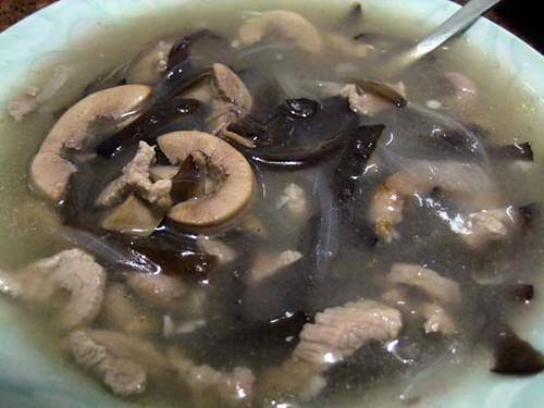 scalloped pork soup / 豬腰花湯